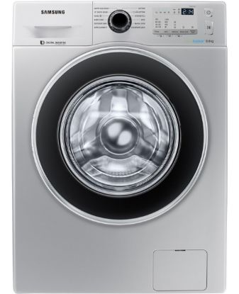 Picture of Samsung WW80J4213GS Fully Automatic Front Loading, Silver  - 8 Kg