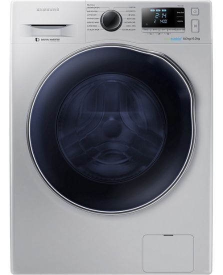 Picture of Samsung WD80J6410AS Fully Automatic Front Loading, Silver - 8 Kg Washer With 6 Kg Dryer