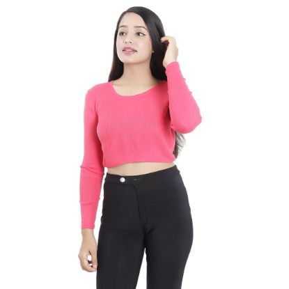 Picture of Round Neck Full Sleeved Crop Top By Attire Nepal