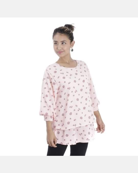 Picture of Women's Round Neck Full Sleeved Abstract Printed Top By Attire Nepal