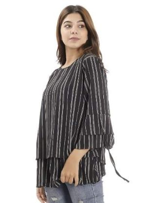 Picture of Women's Round Neck Full Sleeved Stripped Top By Attire Nepal
