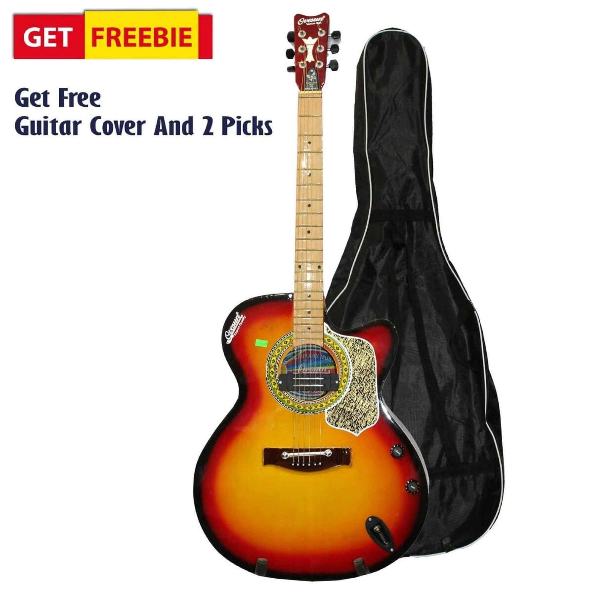 Picture of Sunburst Indian Guitar With Free Cover And 2 Picks