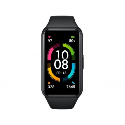 """Picture of Honor Band 6 Smart Band 1.47""""// AMOLED Color Touchscreen SpO2// Swim Heart Rate, Sleep Nap ,Stress All-in-One Activity Tracker// 5ATM Waterproof."""